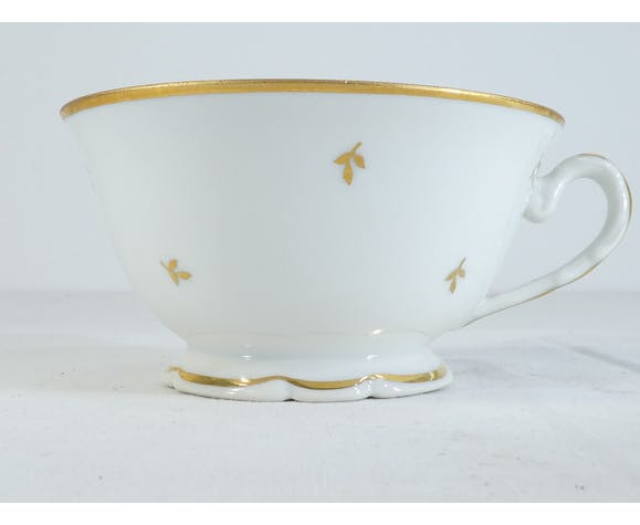 Dejeuner tasse et sous-tasse a thé en porcelaine de LIMOGES