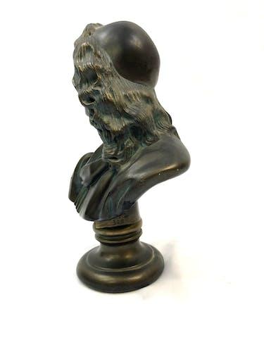Buste de Moliere en platre
