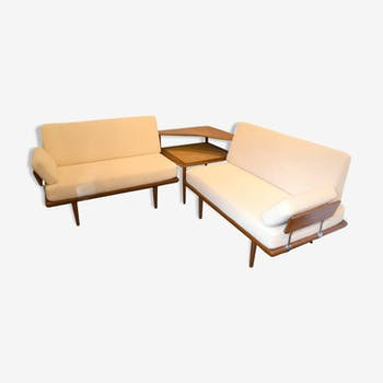 Set of table Peter Hvidt and seat