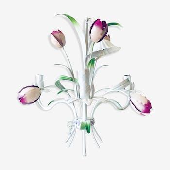 Lustre tulipe en métal masca