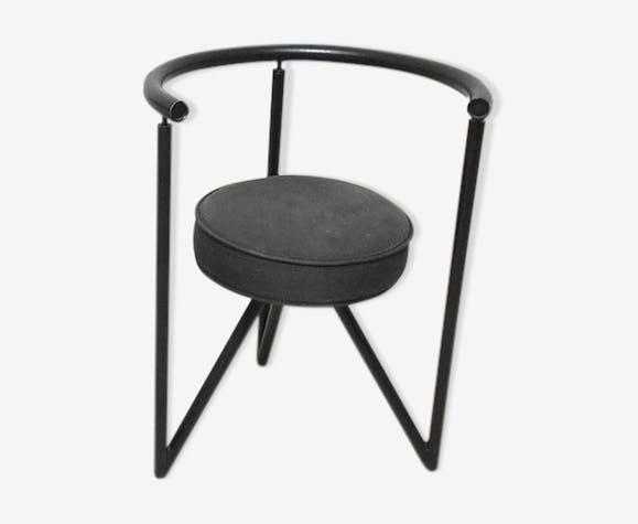 chaise miss dorn par philippe starck 1982 m tal. Black Bedroom Furniture Sets. Home Design Ideas