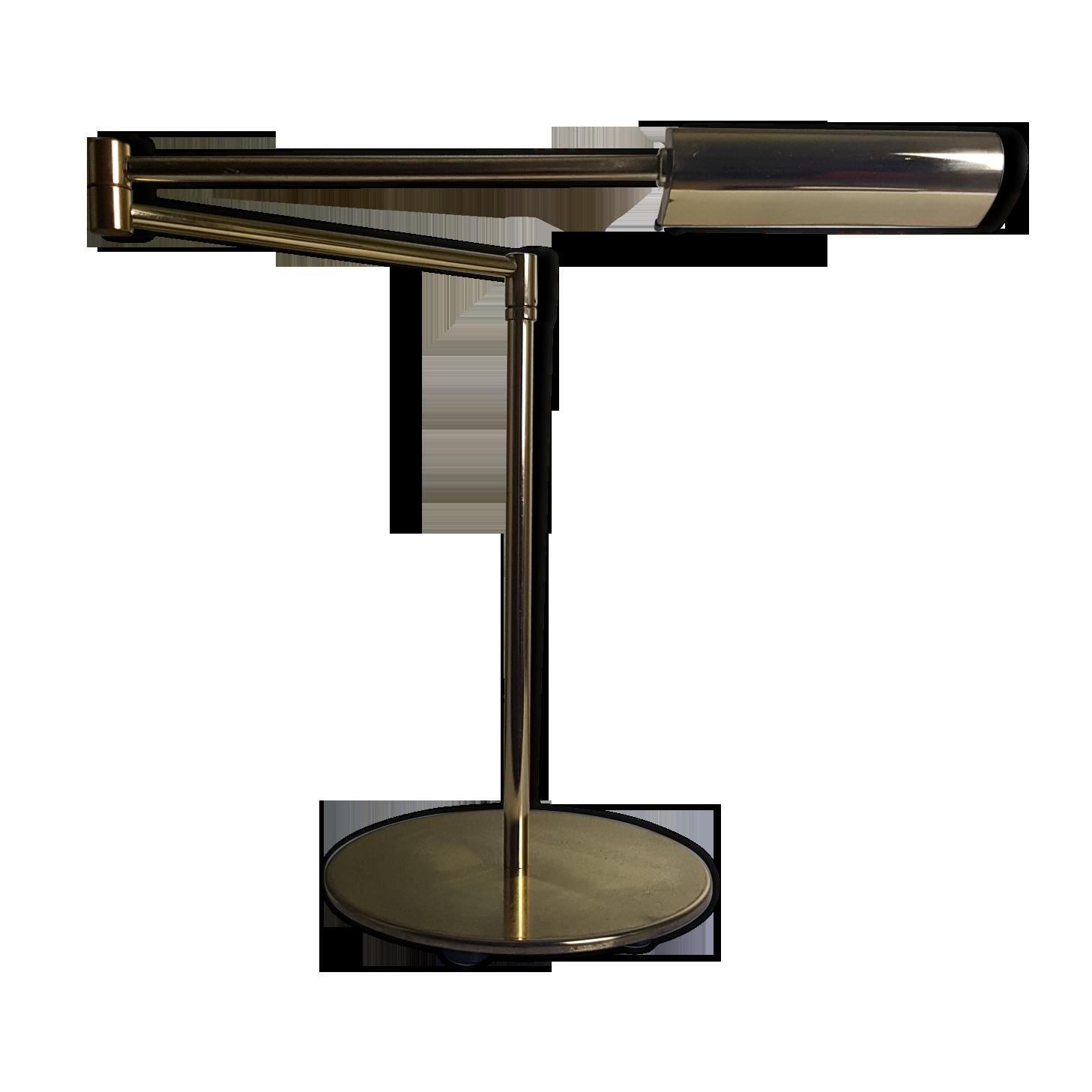 Lampe liseuse de bureau articulée doré vintage halogène avec