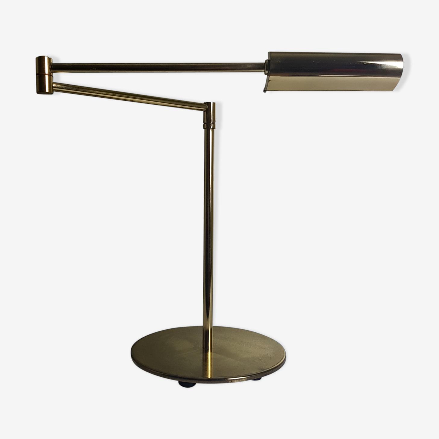 Lampe Liseuse De Bureau Articulee Dore Vintage Halogene Avec