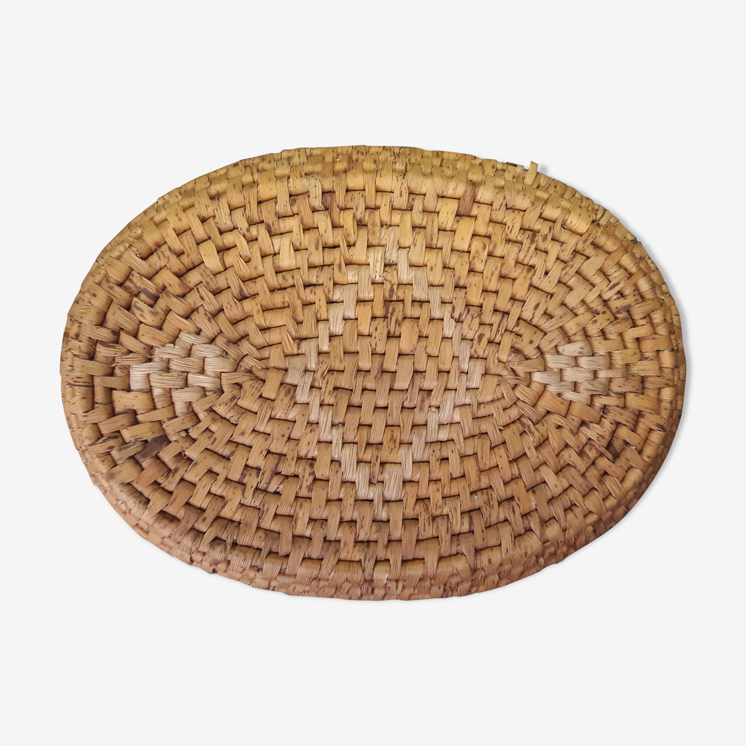 Tray woven rattan