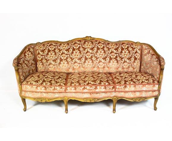 Antique Rococo Sofa In Louis Xv Style
