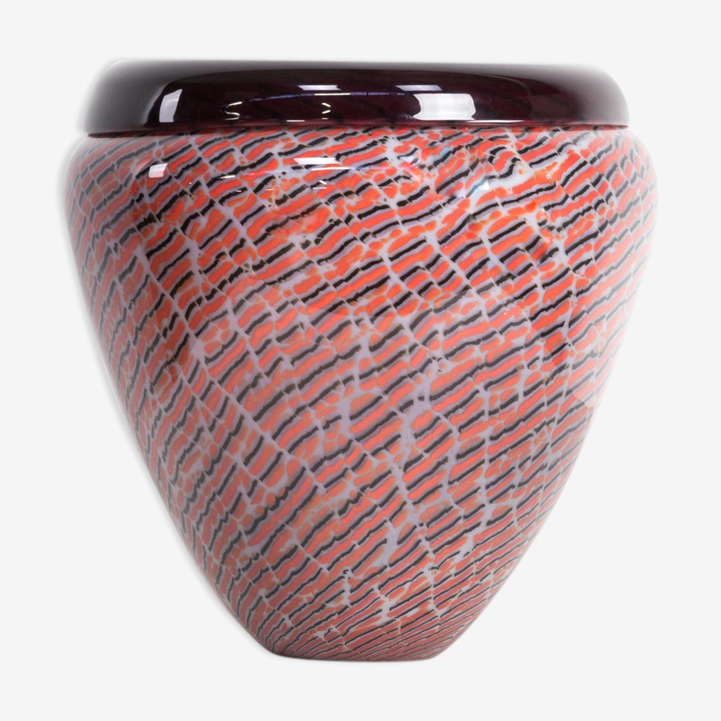 Vase en verre de murano pour Seguso