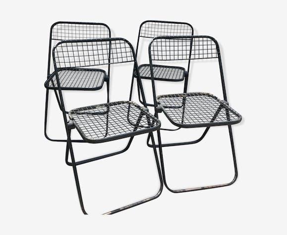 70 chaises Lot de années pliantes métal Italy 4 vintage Talin des yv8Nwmn0O