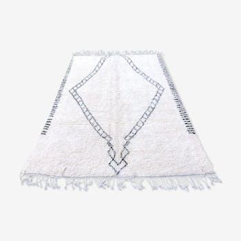 Tapis berbere Beni Ouarain en laine fait main 190x275 cm