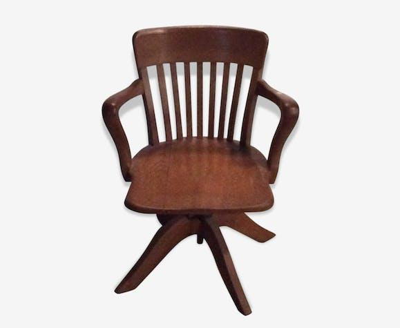 chaise américaine de bureau. - bois (matériau) - marron - vintage