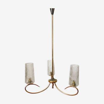 Vintage three-branched chandelier