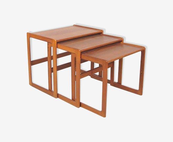 table basse gigogne en teck 1950 teck bois couleur. Black Bedroom Furniture Sets. Home Design Ideas