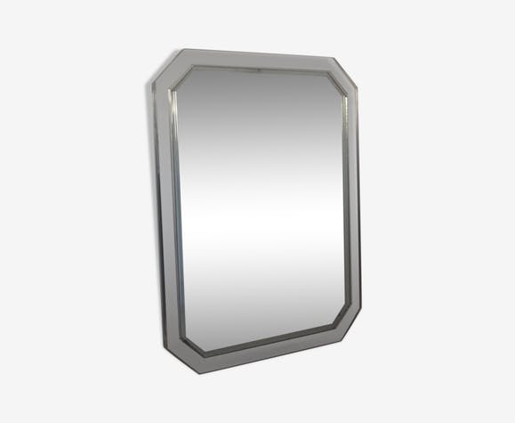 Miroir vertical octogonal en plexiglass 90x70cm vers 1980