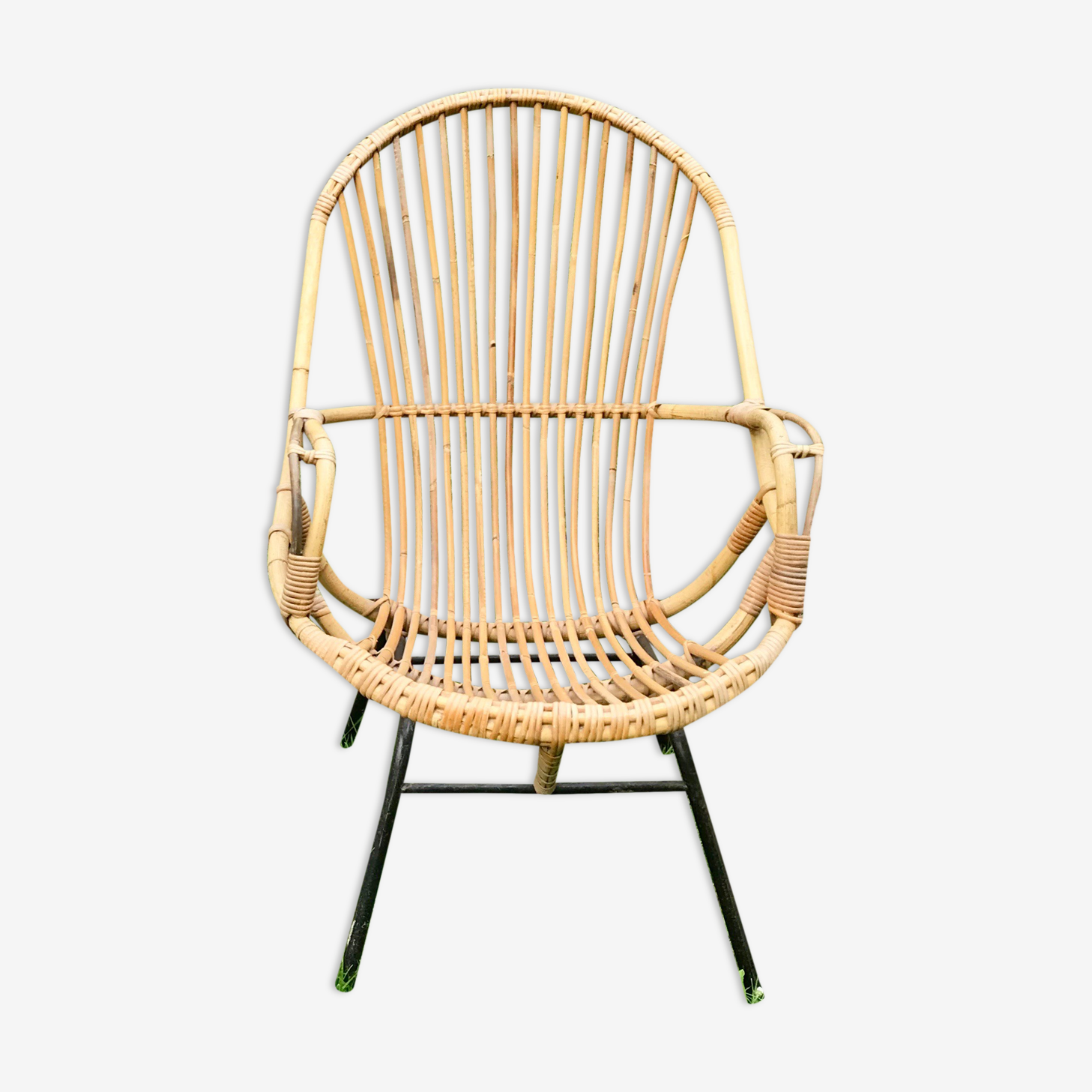 Armchair rattan of the 1960s