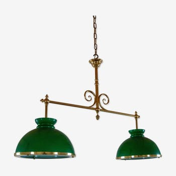 Opaline billiard chandelier
