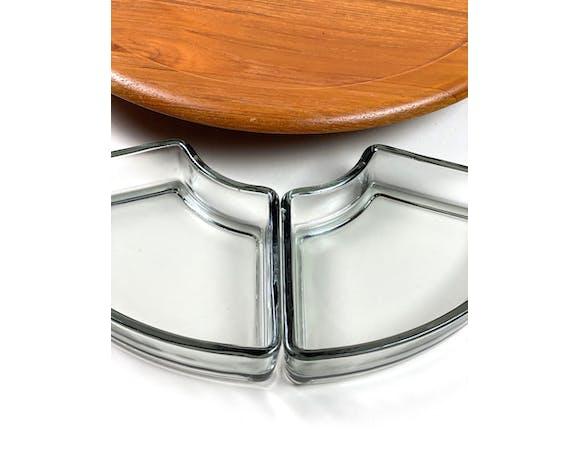 Digsmed teak tray, Mid Century cabaret, turntable, Danish Design, 60s
