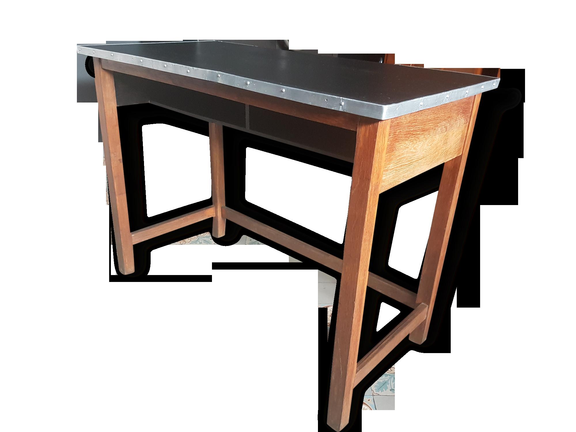 Console ancienne table haute de laborantin comptoir bureau