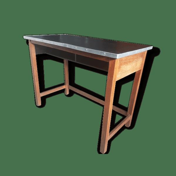 Console Ancienne Table Haute De Laborantin Comptoir Bureau Cuisine Ou D Appoint Industriel Selency