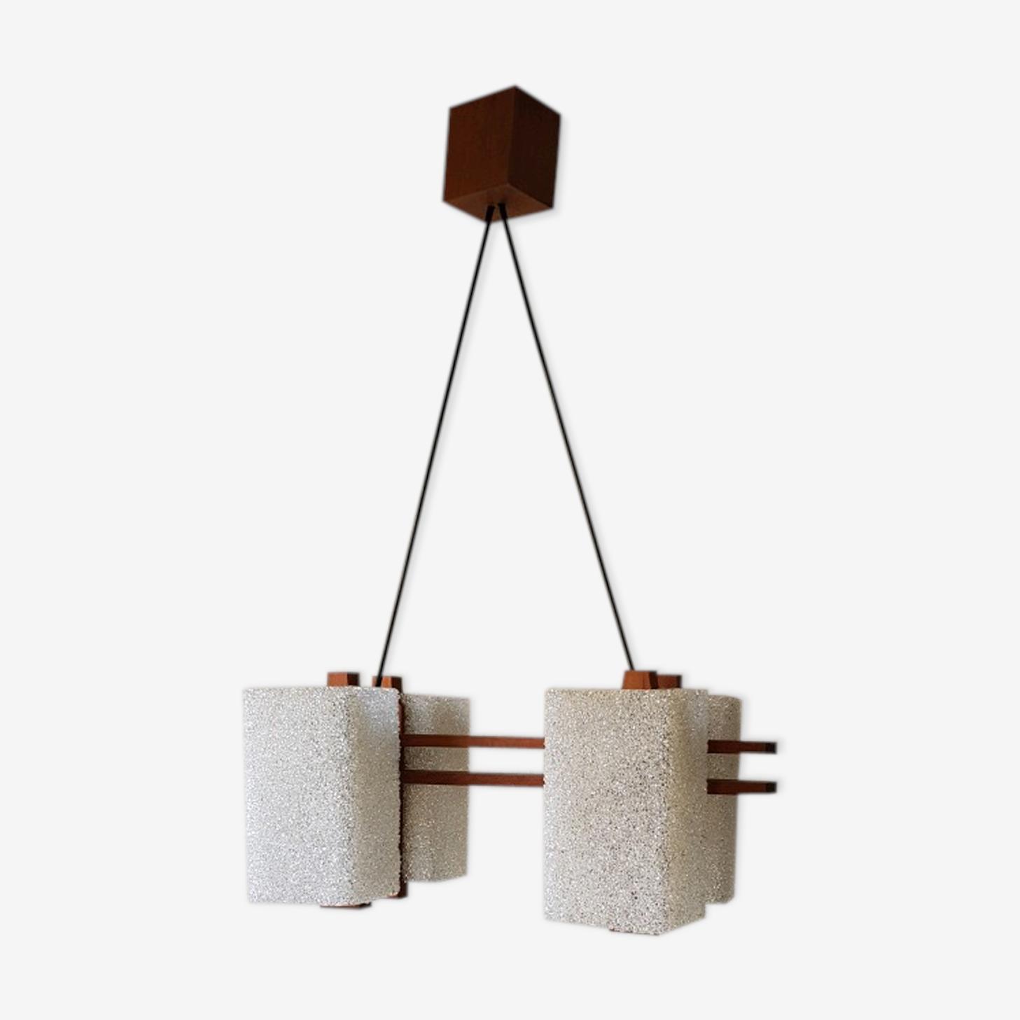 Teak hanging lamp