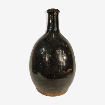 Ovoid bottle in reeds - Japan - 1950 vintage