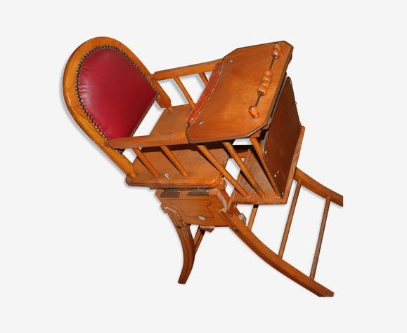 Chaise haute bébé années 50