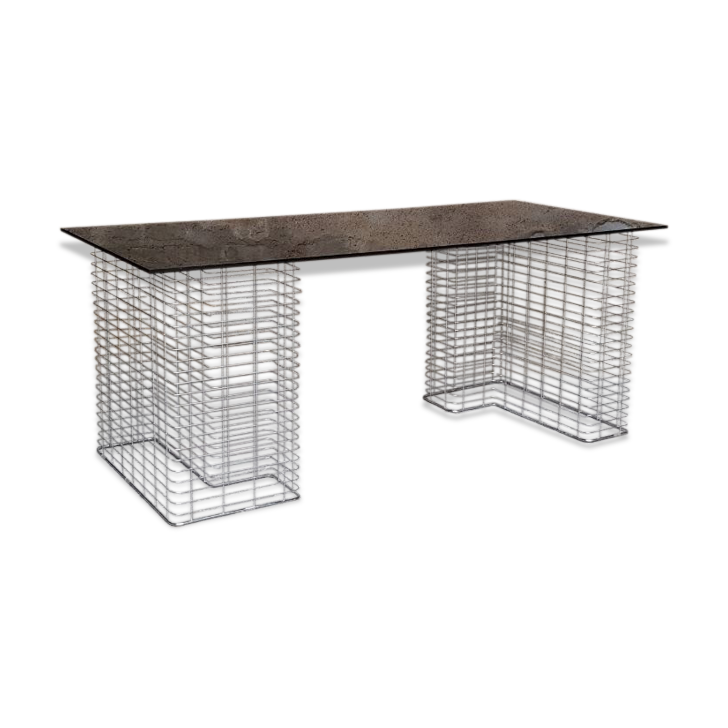 Bureau vintage graphique avec tiroirs en bois teck teck noir