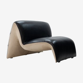 Steiner Paris lounge chair 'Rivoli' in black leather