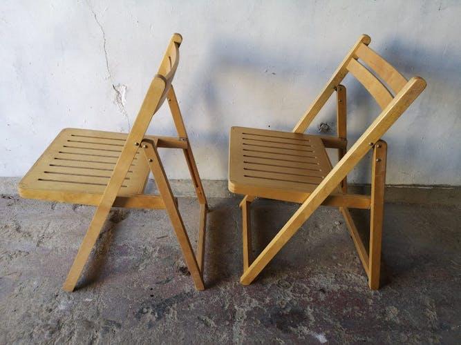 Chaises en bois pliante vintage