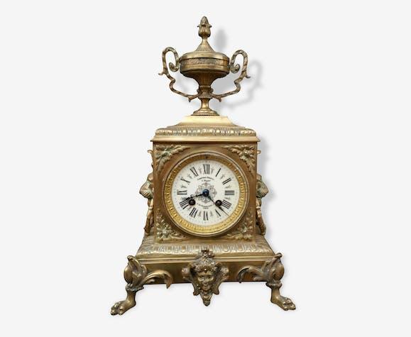 bc5e8e1d7df Pendule Horloge ancienne bronze J. Pratt - bronze - doré - classique ...