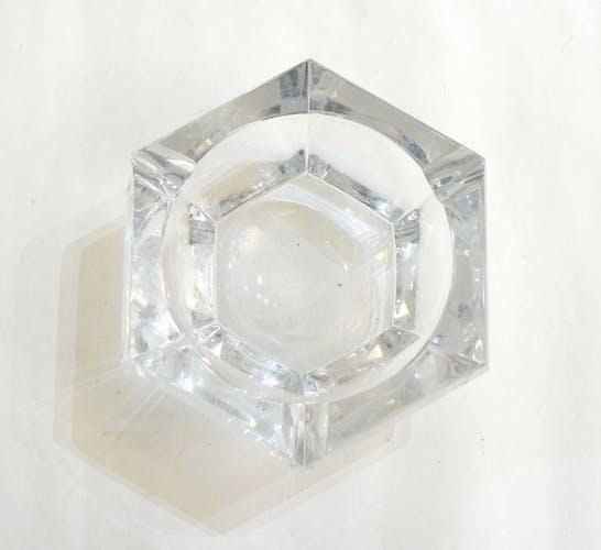 Large crystal ashtray Val St-Lambert