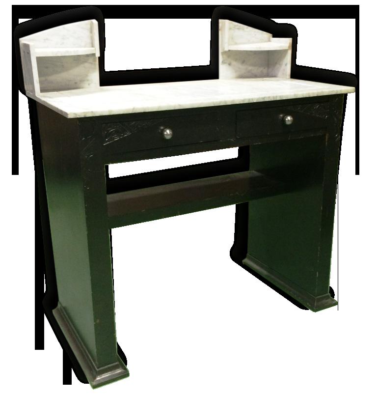 Console bureau années bois matériau noir vintage