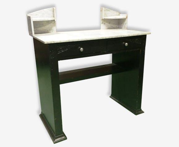 Console bureau années 30 bois matériau noir vintage 119794
