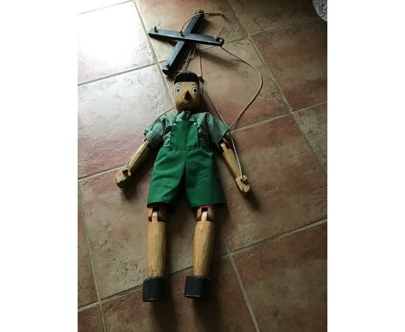 Wooden Pinocchio puppet