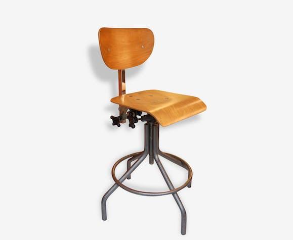 chaise d 39 atelier vintage style bienaise ann es 60 70 m tal industriel 135124. Black Bedroom Furniture Sets. Home Design Ideas