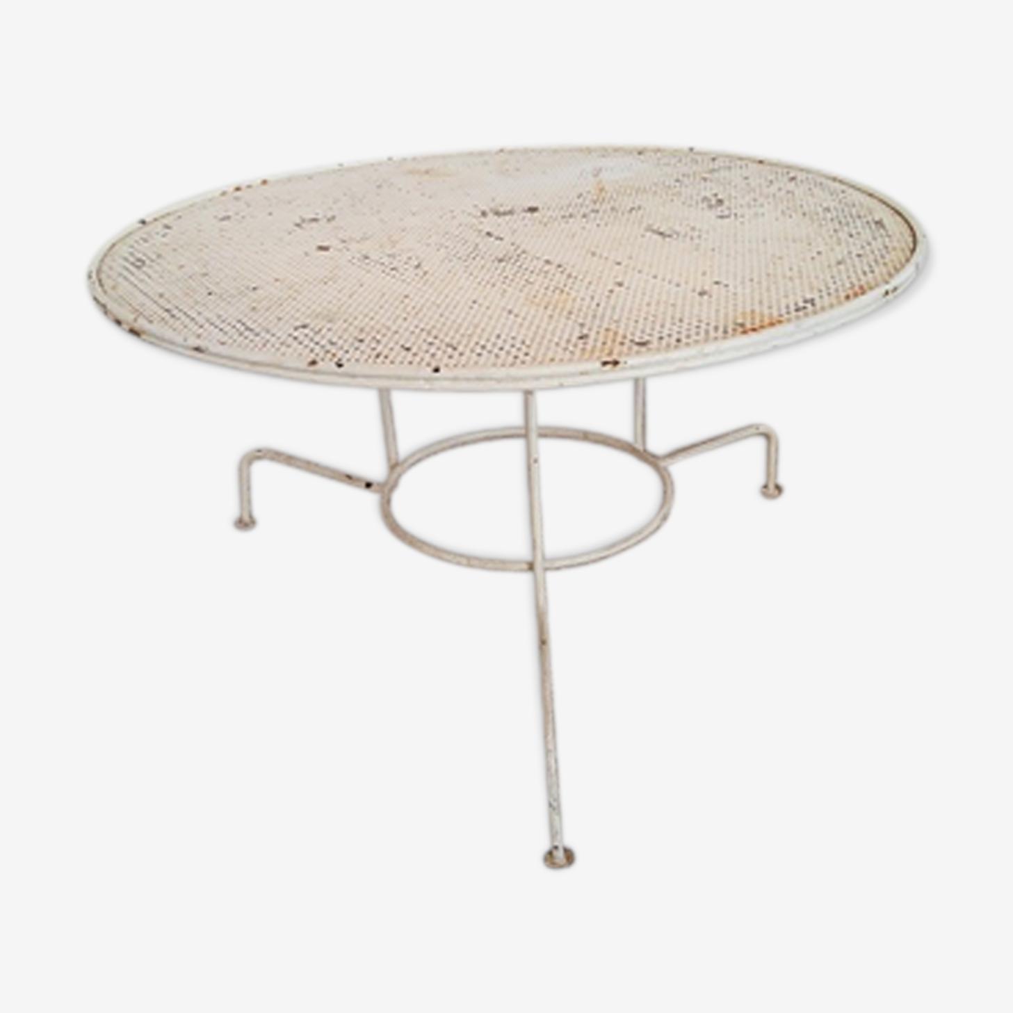 Garden low table tripod metallic vintage