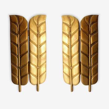 """Applique en bronze """"plumes"""""""