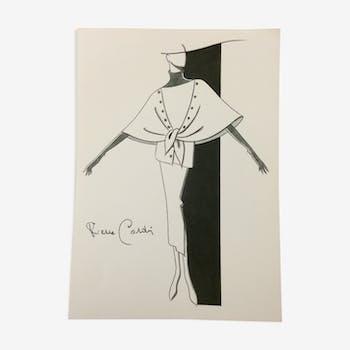 Illustration de mode de presse par Pierre Cardin