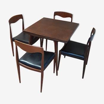 Table et quatres chaises annees 50