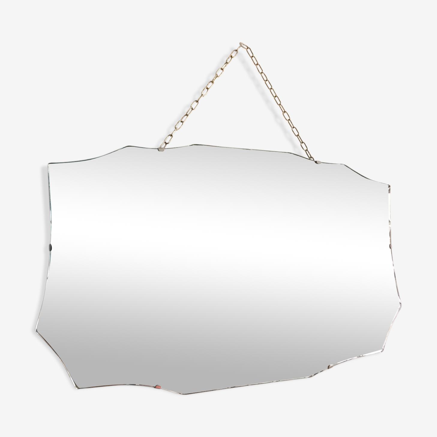 Miroir anglais biseauté XXème 64x40,5cm