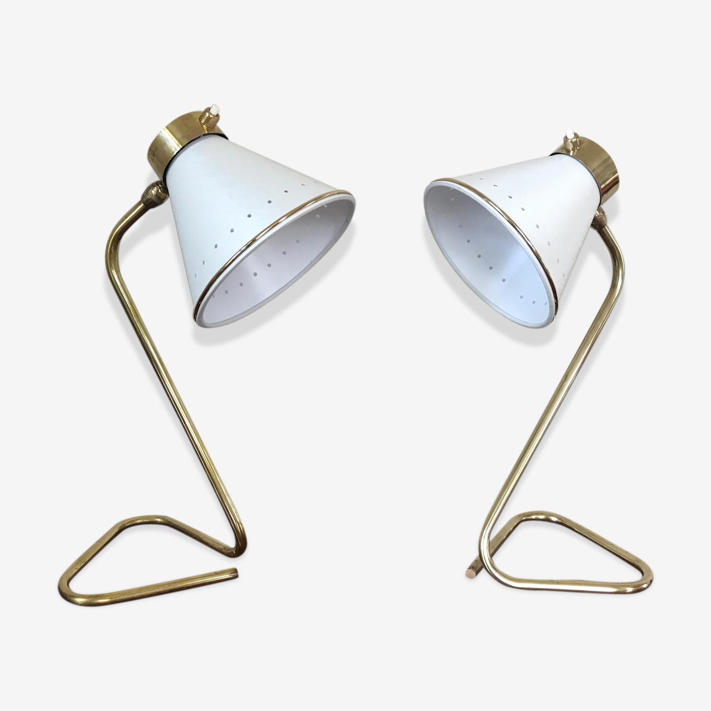 Paire de lampes design vintage des années 60