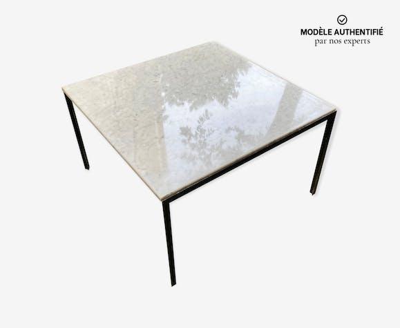Table en marbre de Carrare T-Angle par Florence Knoll des années 70