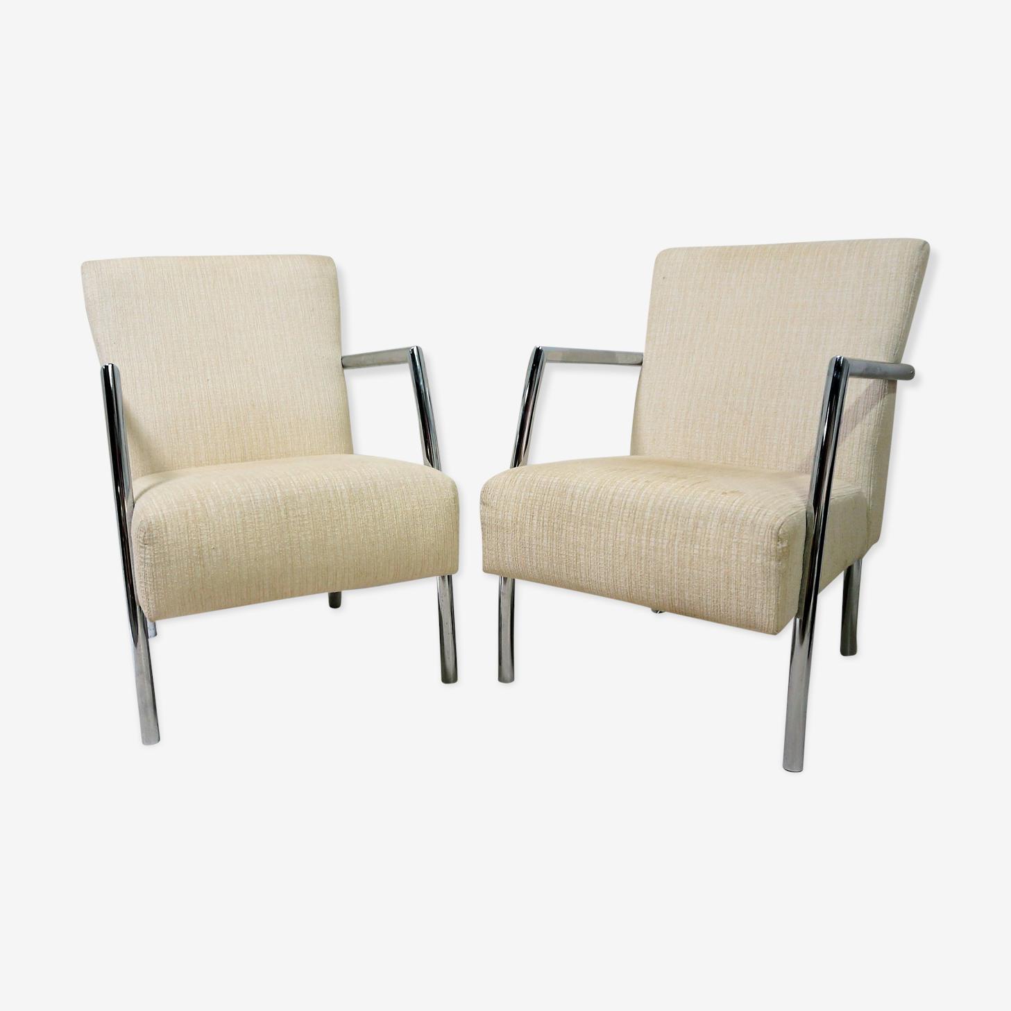 Paire de fauteuils scandinaves vintage