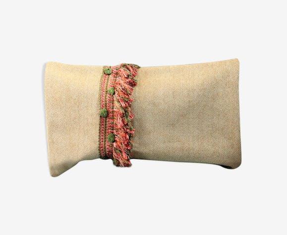 Bohemian chic cushion fringed velvet of furniture 62x40cm