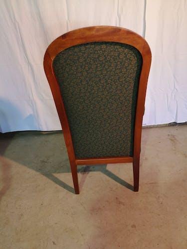 Paire de fauteuils et repose-pieds style Louis Philippe