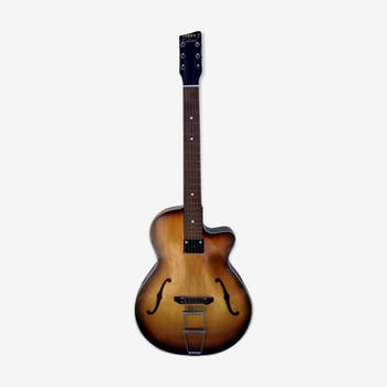 Guitare jazz archtop lucky 7 1960's vintage