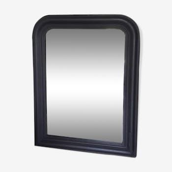 Miroir noir mat 70x55cm
