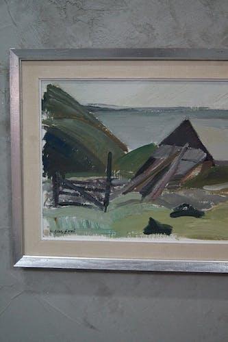Peinture à l'huile suédoise par Allan Erwö, années 1960