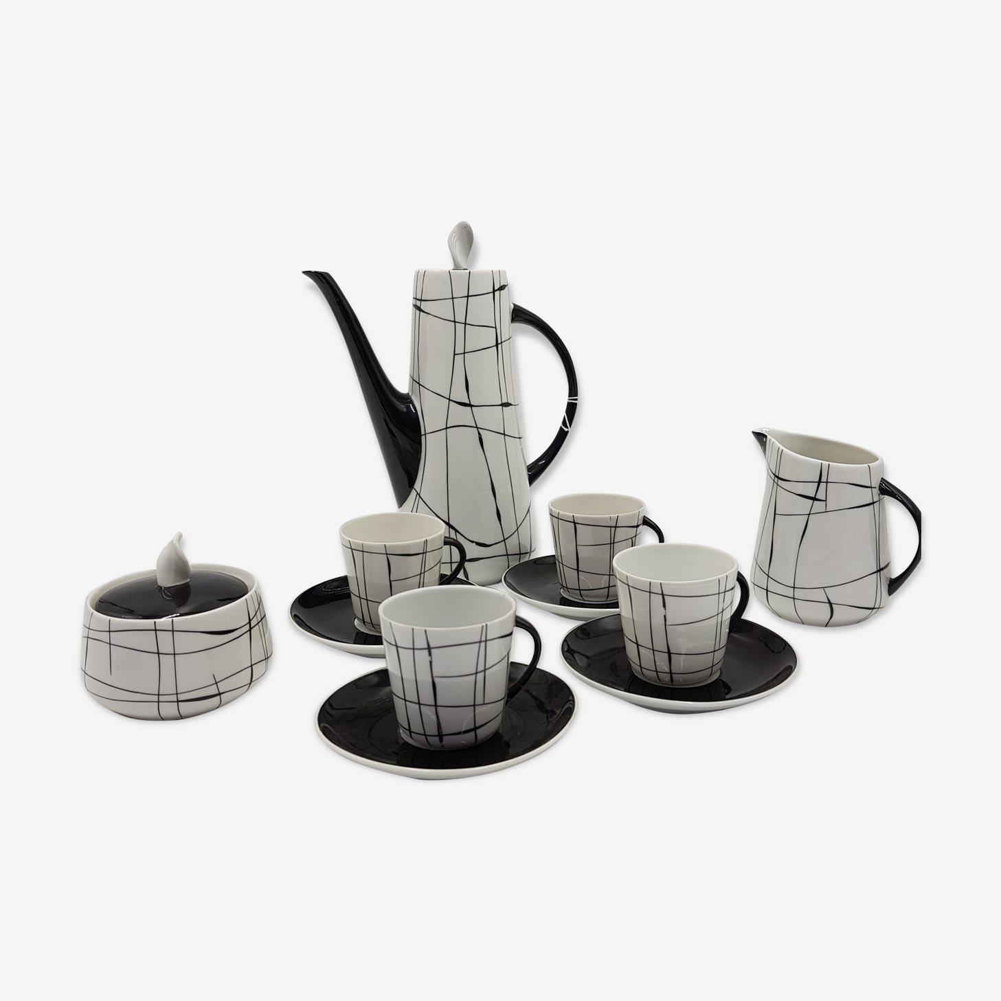 Service à café en fine porcelaine