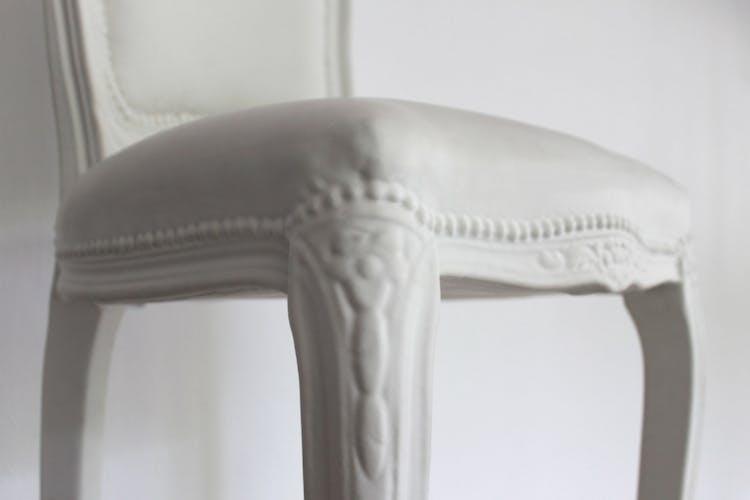 Tabouret de bar vintage louis pour sixinch en polyurethane blanc et acier