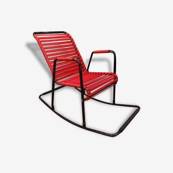 Rocking chair scoubidou, années 50