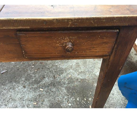 Desk old desk with drawer